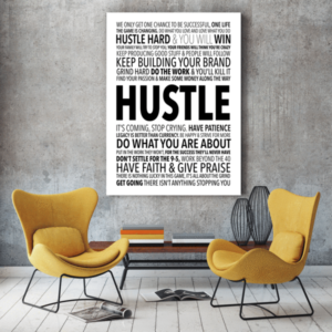 ONE LIFE TO HUSTLE CANVAS PRINT